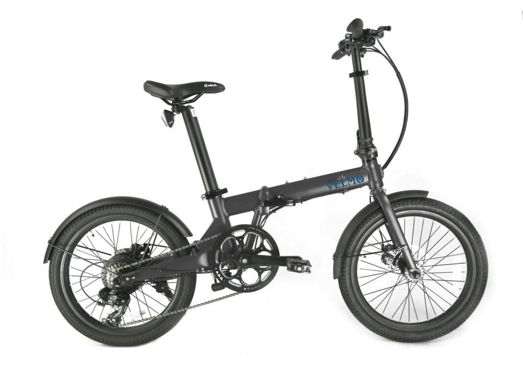 折りたたみ電動アシスト自転車VELMO-Q2 紺 gray
