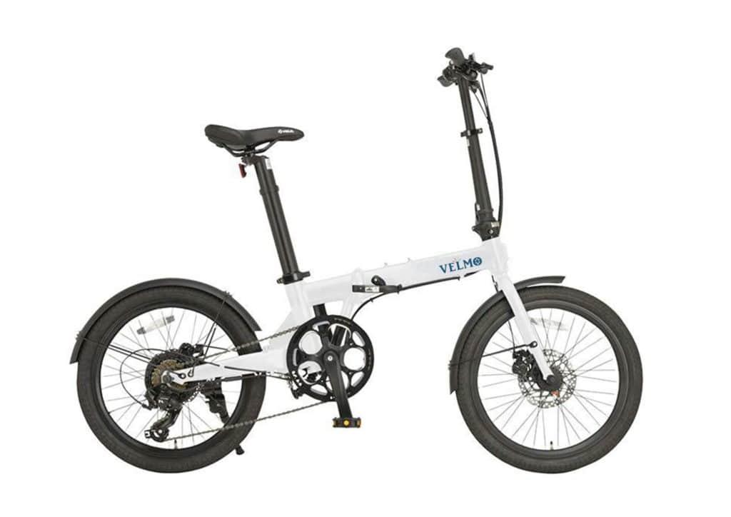 折りたたみ電動アシスト自転車VELMO-Q2 白 white