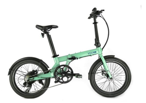 折りたたみ電動アシスト自転車VELMO-Q2 黄緑 green