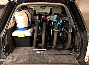 コンパクトなので車内にも収納 折りたたみ電動アシスト自転車VELMO-Q2